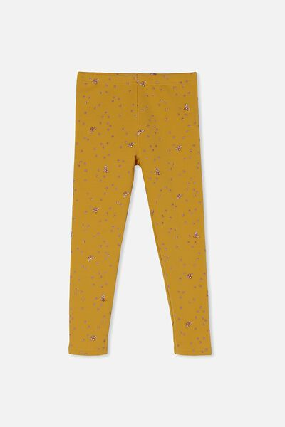 Fleece Legging, HONEY GOLD/BEES
