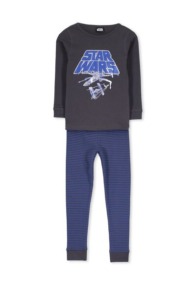 Dan Long Sleeve Boys PJs, STAR WARS STRIPE