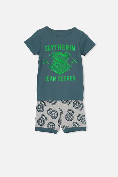 Joshua Short Sleeve Pyjama Set, LCN HARRY POTTER SLYTHERIN