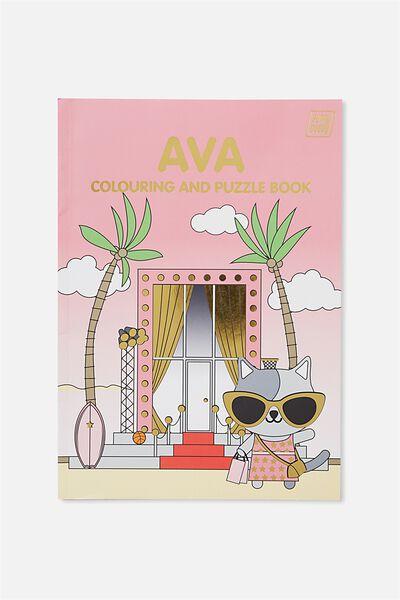 Sunny Buddy Colouring In Book, AVA