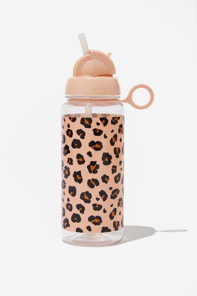 Spring Drink Bottle, PEACHY LEOPARD