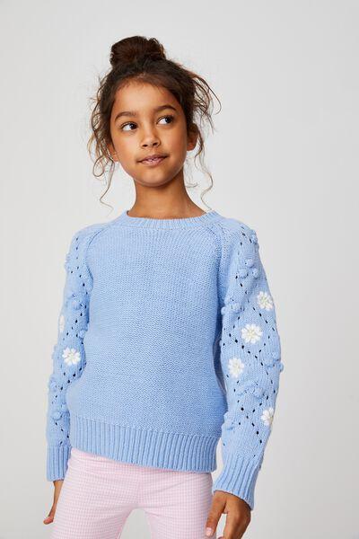 Cecelia Knit Jumper, DUSK BLUE