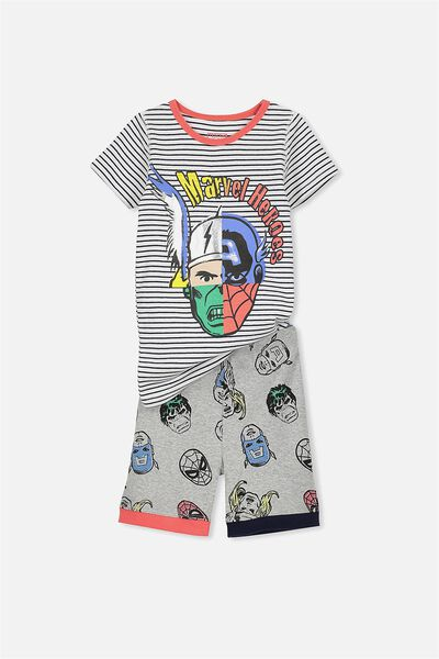 Peter Boys Short Sleeve PJ Set, MARVEL MEGA HEADS