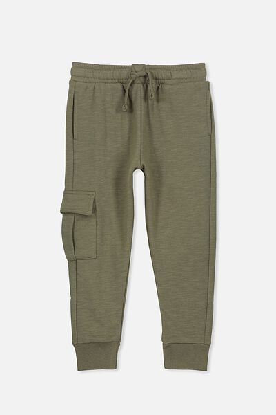 Lewis Trackpant, CLIVE GREEN CARGO POCKET