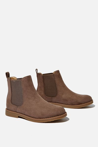 Chelsea Gusset Boot, WALNUT