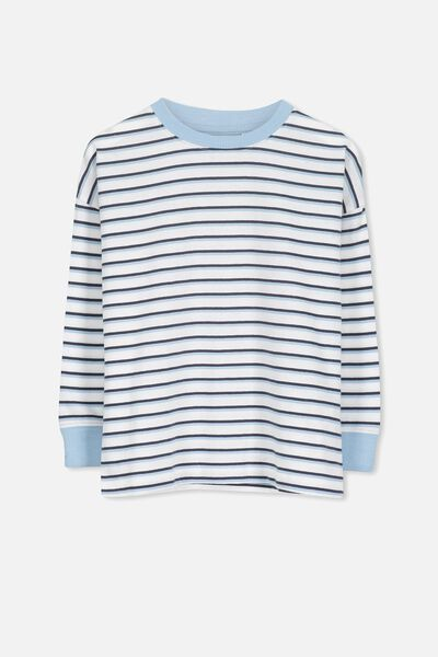 Tom Loose Fit Tee, BX/WHITE PHANTOM STRIPE