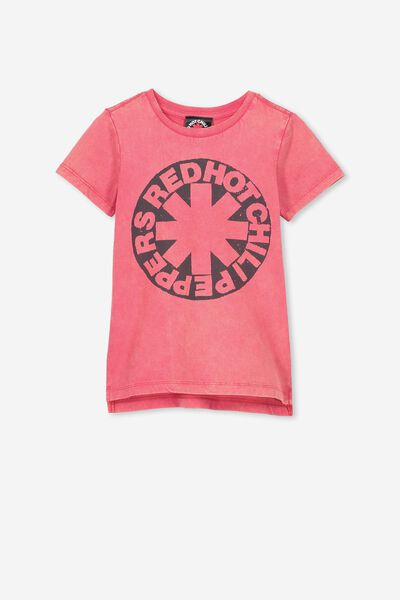 Short Sleeve License1 Tee, LCN PRO RIVER RED WASH/RHCP