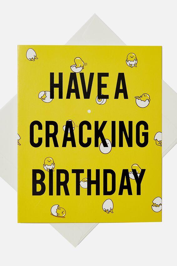 Gudetama Birthday Gift Card, LCN SAN GUDETAMA BIRTHDAY