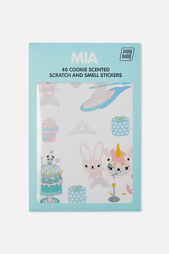 Sunny Buddy Scratch And Scent Sticker, MIA DRESS UP