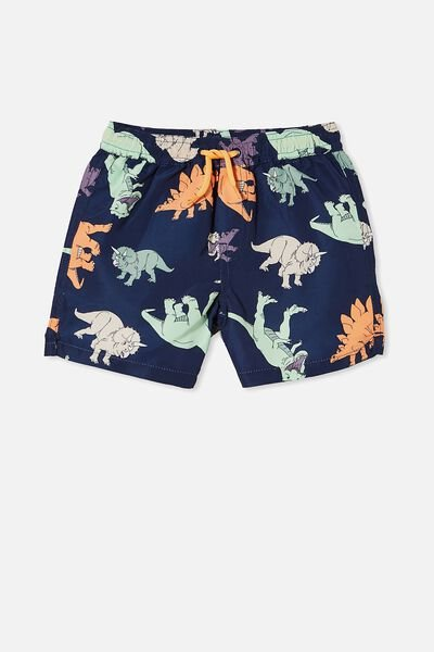 Bailey Board Short, INDIGO/MULTI DINOS