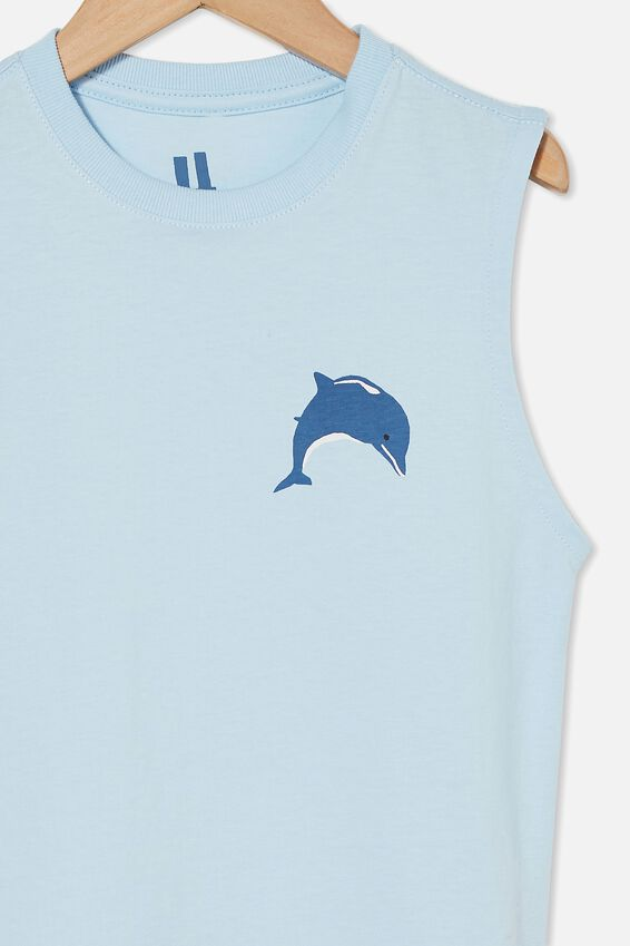 Otis Muscle Tank, WHITE WATER BLUE/DOLPHIN
