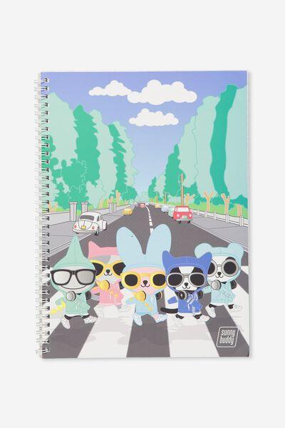 Sunny Buddy A4 Flip It Notebook, SIGHTSEEING ROCK