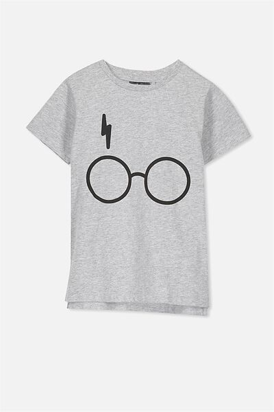 Short Sleeve License Tee, LIGHT GREY MARLE/HARRY POTTER