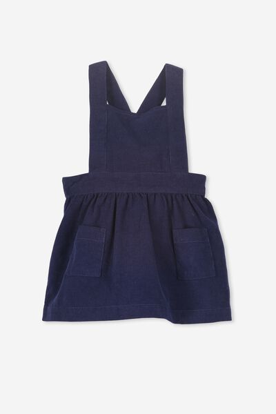 Brittany Pinafore Dress, PEACOAT BLUE