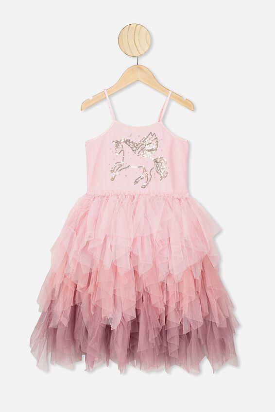 Iris Tulle Dress, BLOSSOM PINK/UNICORN