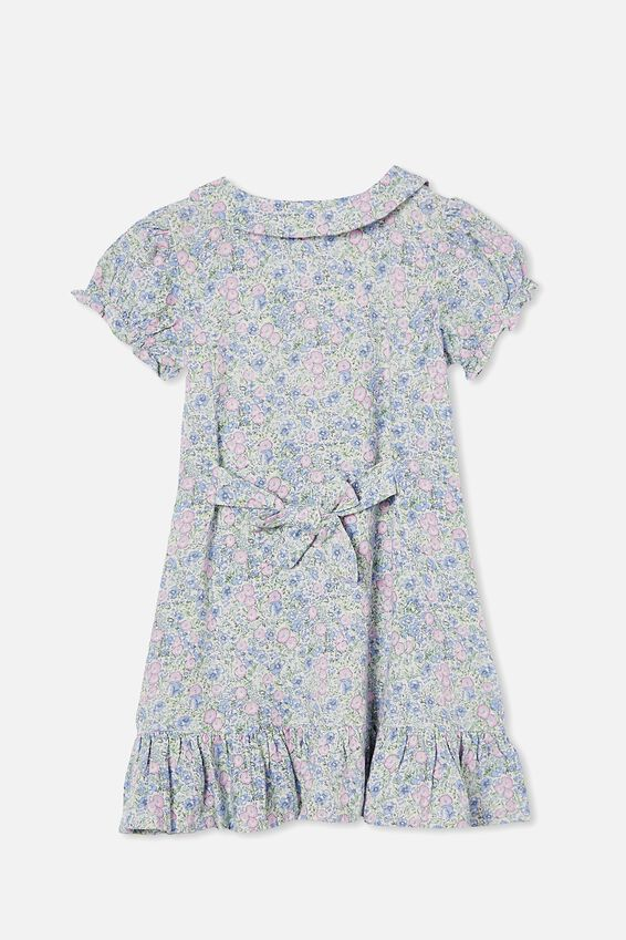 Evelyn Short Sleeve Dress, VANILLA VINTAGE FLORAL