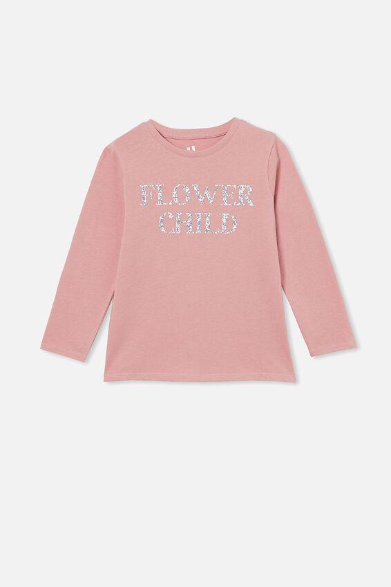 Penelope Long Sleeve Tee, MUSK ROSE/ FLOWER CHILD