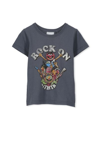 Boys Muppets Rock Short Sleeve Tee, GRAPHITE/ROCK ON