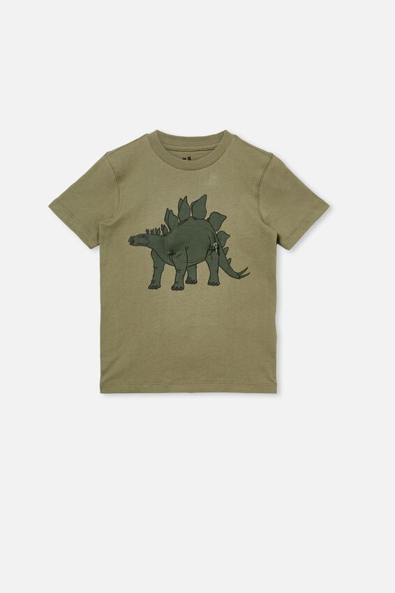 Downtown Short Sleeve Tee, SILVER SAGE/STEG DINO