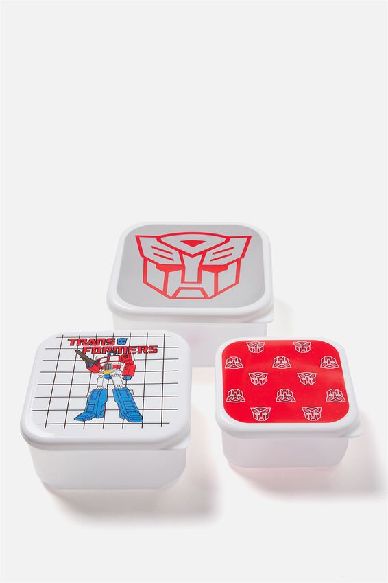 Transformers Lunch Box Set of 3, TRANSFORMERS