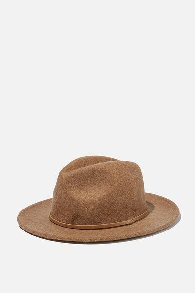 Wide Brim Hat, GOLDEN MARLE