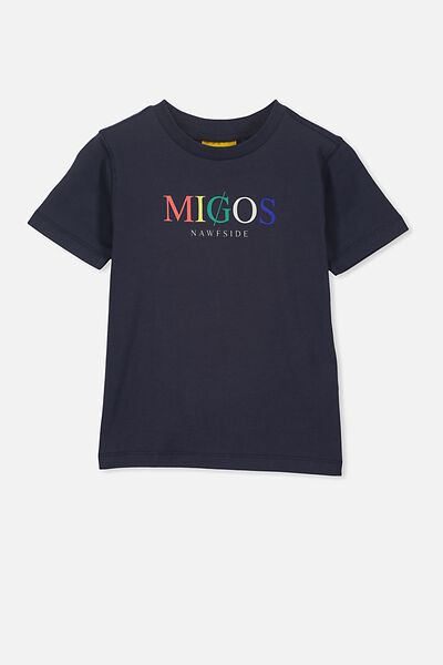 Co-Lab Short Sleeve Tee, LCN BR INDIA INK/MIGOS