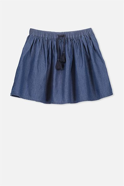 Elise Skirt, DARK BLUE/CHAMBRAY