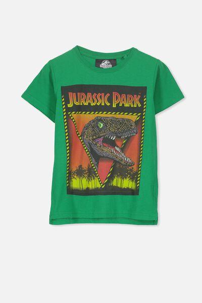 Short Sleeve License1 Tee, TURF GREEN/JURASSIC PARK