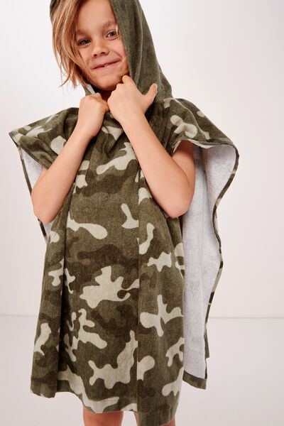 Kids Hooded Towel, NEW CAMO