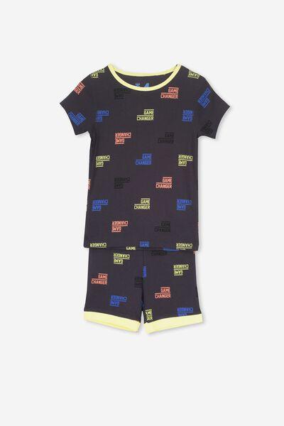 Joshua Short Sleeve Pyjama Set, GAME ON