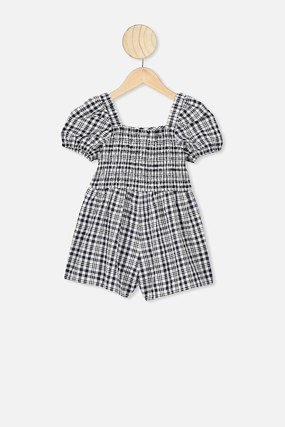 Kate Playsuit, INDIAN INK CHECK