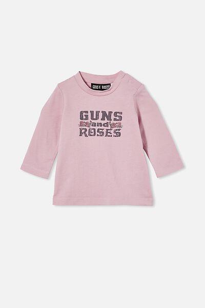 Jamie Long Sleeve Tee-Lcn, LCN BR ORCHID HAZE/GUNS N' ROSES