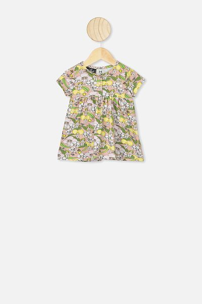 Milly Short Sleeve Dress, LCN MAY ZEPHYR/BLOSSOM BABIES