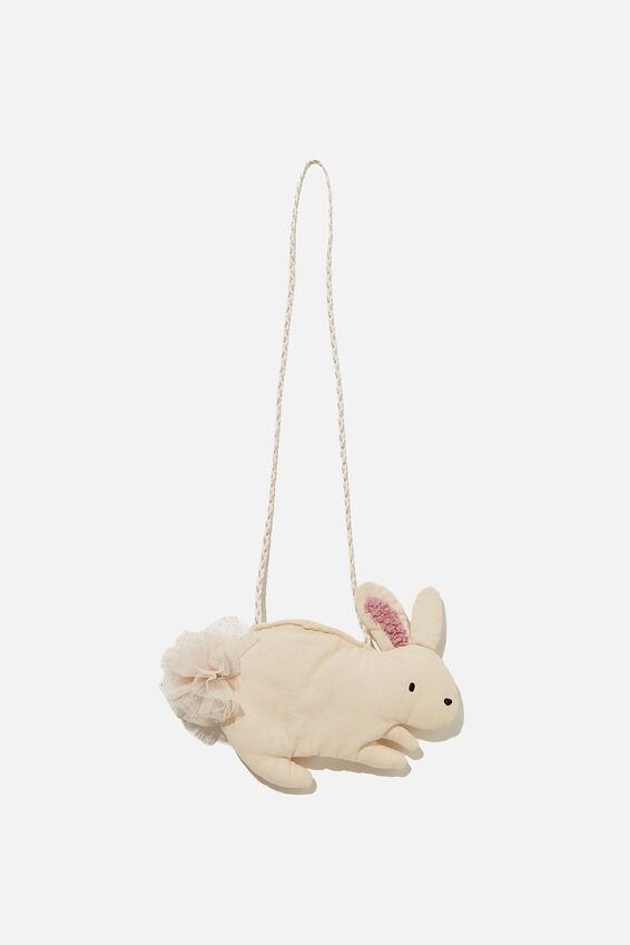 Lux Bunny Jayme Critter Bag, WHITE BUNNY