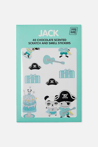 Sunny Buddy Scratch And Scent Sticker, JACK DRESS UP