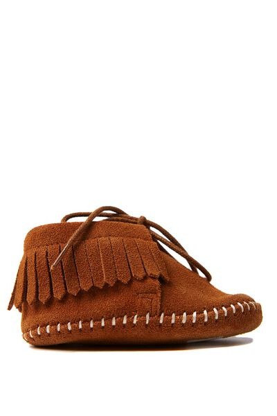 Arlo Mini Leather Moccasin, TAN