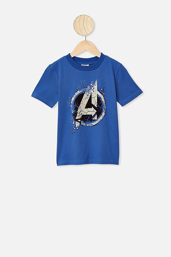 Avengers Short Sleeve Tee, LCN MAR AVENGERS VINTAGE BLUE