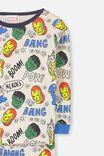 Avengers Marvel Long Sleeve PJ Set, LCN MAR MARVEL AVENGER HEADS