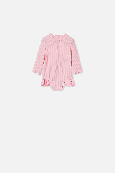 Elise Long Sleeve Swimsuit, CALI PINK