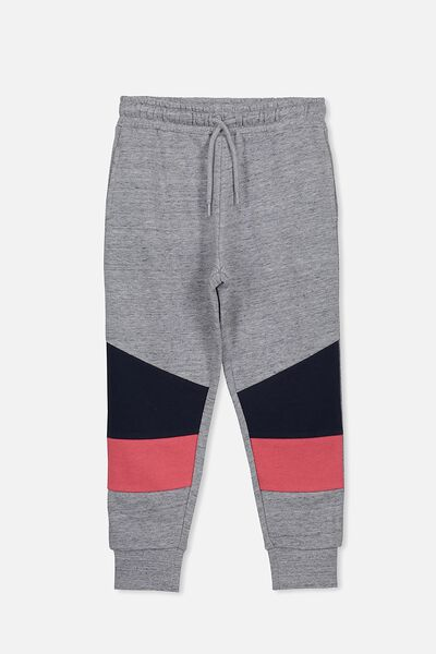 Lewis Trackpant, GREY NEP/PANEL