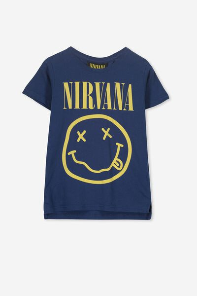 Short Sleeve License1 Tee, LCN LN CAPTAIN BLUE/NIRVANA