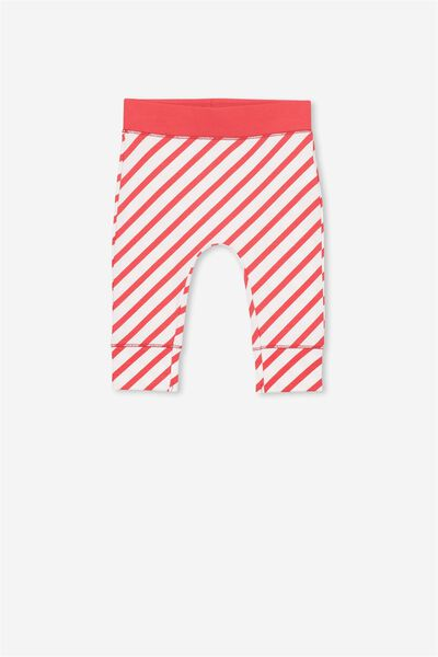 Mini Legging, VANILLA/CANDY CANE STRIPE