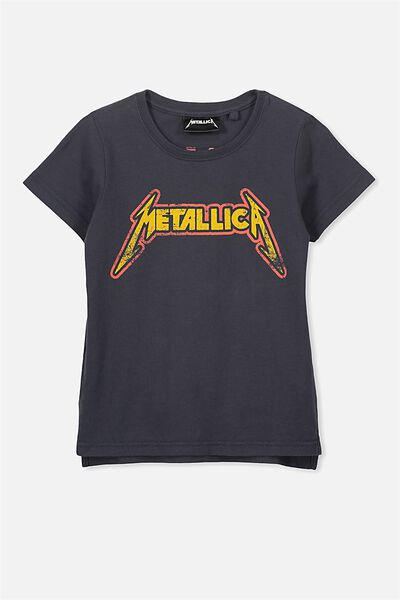 Short Sleeve License Tee, GRAPHITE/METALLICA