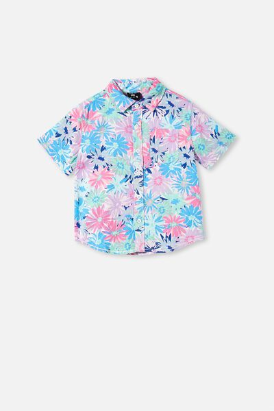 Kip & Co Resort Short Sleeve Shirt, LCN KIP PETAL POWER
