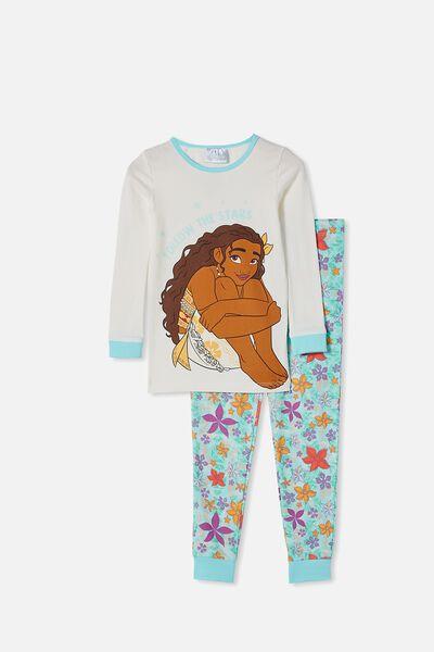 Lila Long Sleeve Pajama Set, LCN DIS MOANA VANILLA