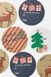 Christmas Wrap Stickers, TEAM SANTA