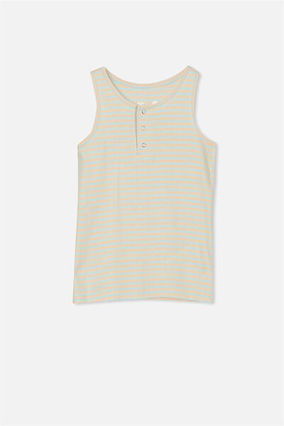 Tilley Tank, AQUA TINT/PALE PEACH