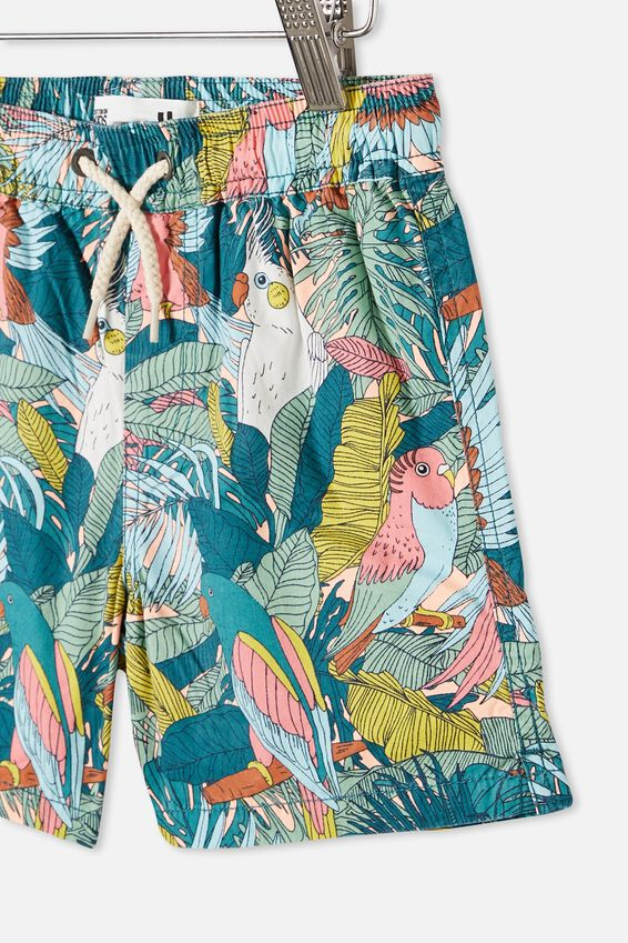 Boys Volly Short, TROPICAL BIRDS/TROPICAL ORANGE