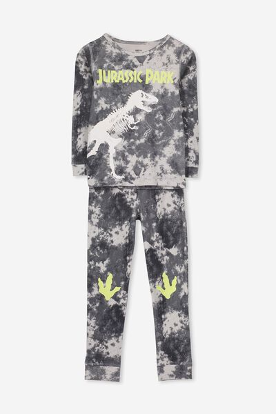Harry Long Sleeve Boys PJ Set, LCN UNI - JURASSIC DINO