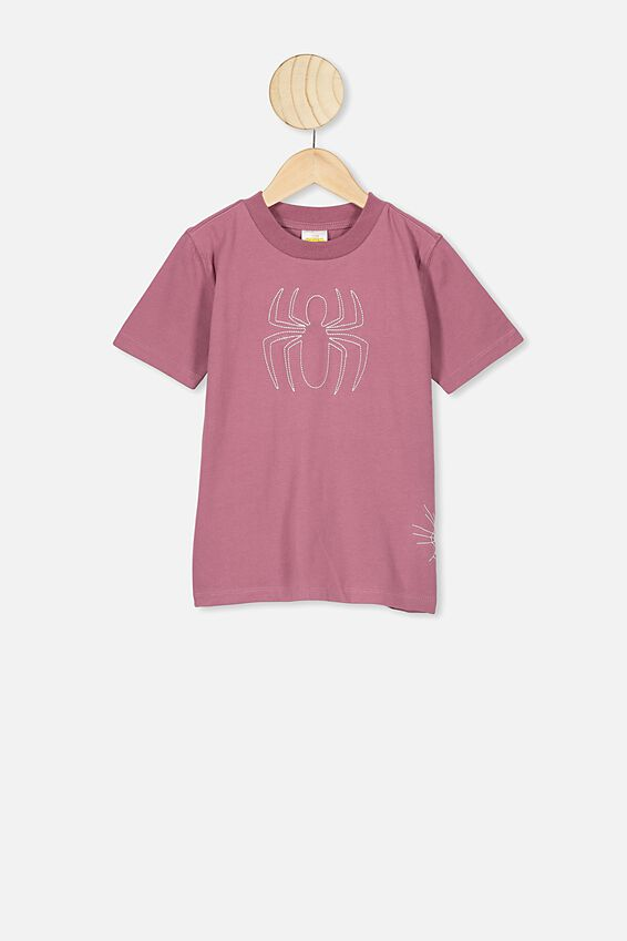 Co-Lab Short Sleeve Tee, LCN MAR SPIDERMAN STITCHED